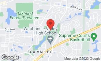 Map of 2551 Whiteway Court AURORA, IL 60504