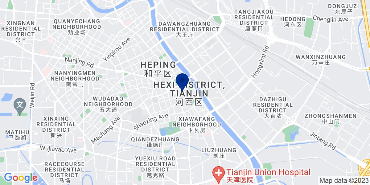 Google Map of 256 Jie Fang Nan Lu, Hexi Qu, Tianjin Shi, China 300042