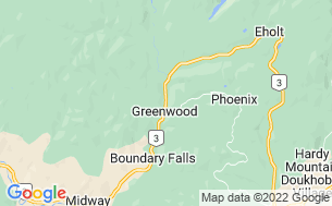 Map of Greenwood Motel & RV Park