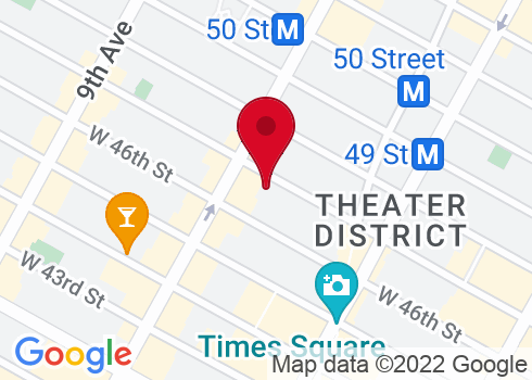 Brooks Atkinson Theatre Google Maps Location