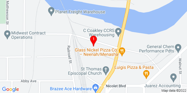 Google Map of 257 Garfield Avenue, Menasha WI 54952