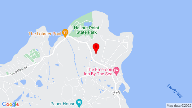 Google Map of 257 Rear Granite Street, Rockport, MA 01966
