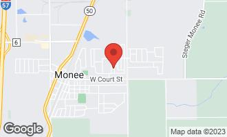 Map of 25756 Scioto Street MONEE, IL 60449