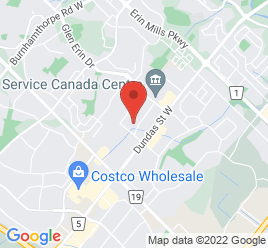 Google Map of 2580+Motorway+Blvd%2CMississauga%2COntario+L5L+1X3