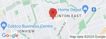 Google Map of 2584+Eglinton+Ave+east%2CScarborough%2COntario+M1K+2R5