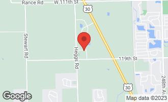 Map of 25865 West Prairie Hill Lane PLAINFIELD, IL 60585