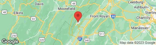Map of 2588 FAIRWAY DRIVE #610 BASYE, VA 22810