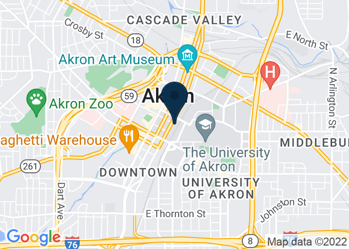 Map of 259 South Broadway Street, Akron, OH, United States