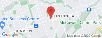 Google Map of 2594+Eglinton+Ave+East%2CScarborough%2COntario+M1K+2R5