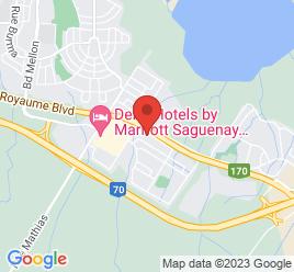Google Map of 2595+Rue+Godbout%2CJonquiere%2CQuebec+G7S+5B1