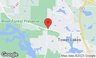 Map of 25982 North Oak Hills Road LAKE BARRINGTON, IL 60010