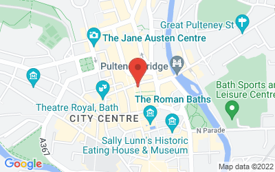 Map of The Practice Rooms | Bath