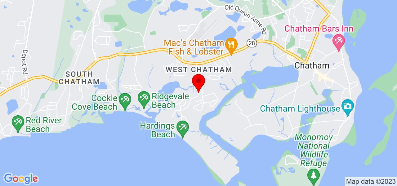 Google Map of26 Hardings Beach Rd Chatham MA