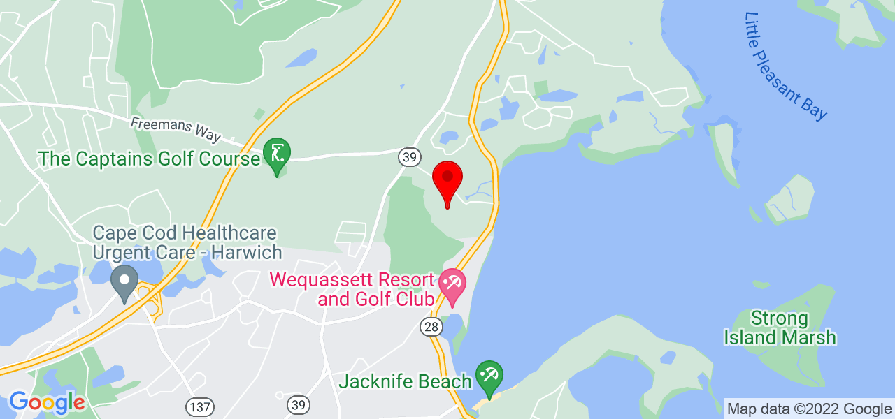 Google Map of 26 Highridge Road Brewster MA