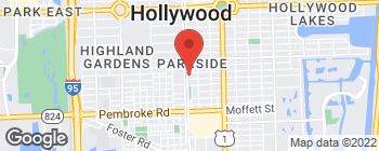 Map of 1117 S 21st Ave in Hollywood