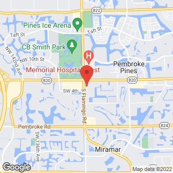 Map of Hair Cuttery at 11964 Pines Blvd, Pembroke Pines, FL 33026