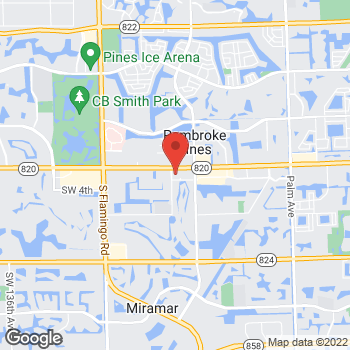 Map of buybuy BABY at 11360 Pines Boulevard, Pembroke Pines, FL 33026