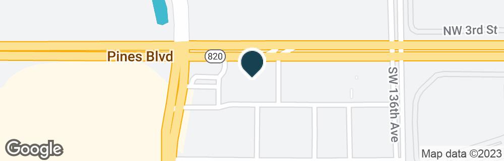 Google Map of13800 PINES BLVD