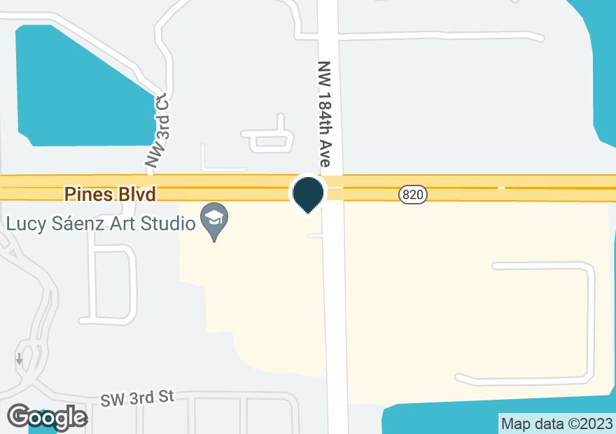 Google Map of18410 PINES BLVD