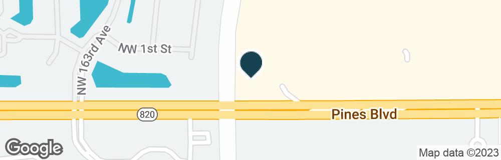 Google Map of15911 PINES BLVD