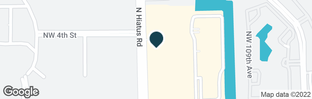 Google Map of201 N HIATUS RD