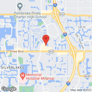 Map of Tuesday Morning at 15891 Pines Blvd, Pembroke Pines, FL 33027