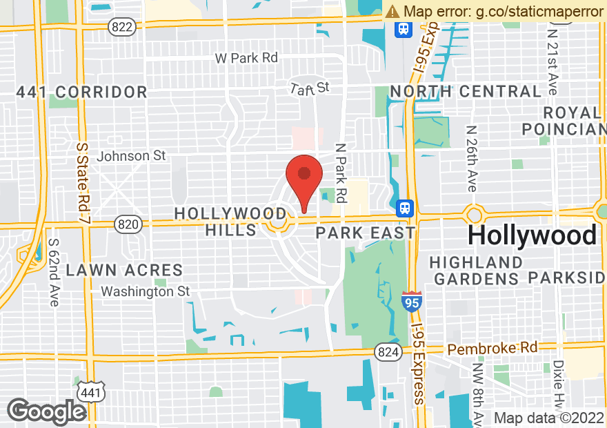 Google Map of 3705 HOLLYWOOD BLVD