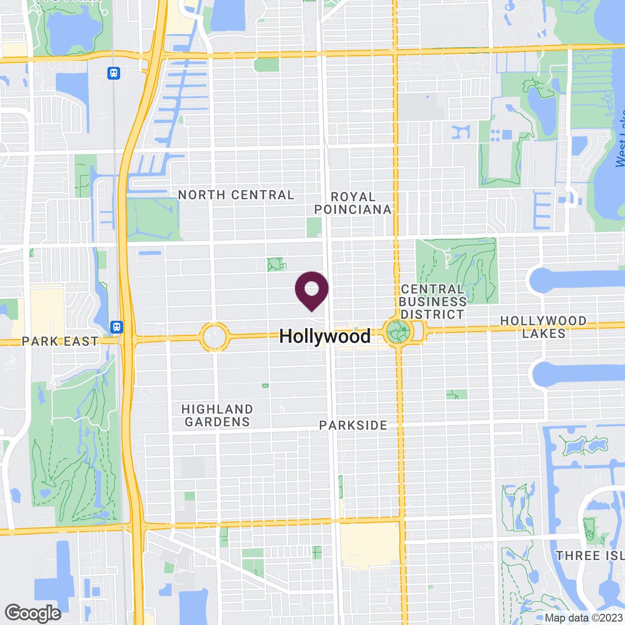 Google Maps static image of Hollywood, FL