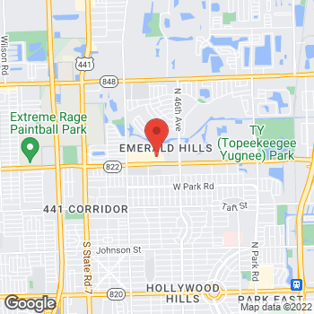 Map of Panera Bread at 4931 Sheridan St, Hollywood, Florida 33021