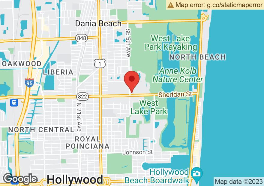 Google Map of 501 E SHERIDAN ST