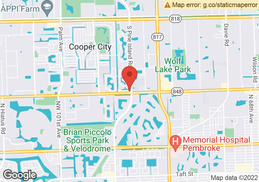 Google Map of 8625 STIRLING RD