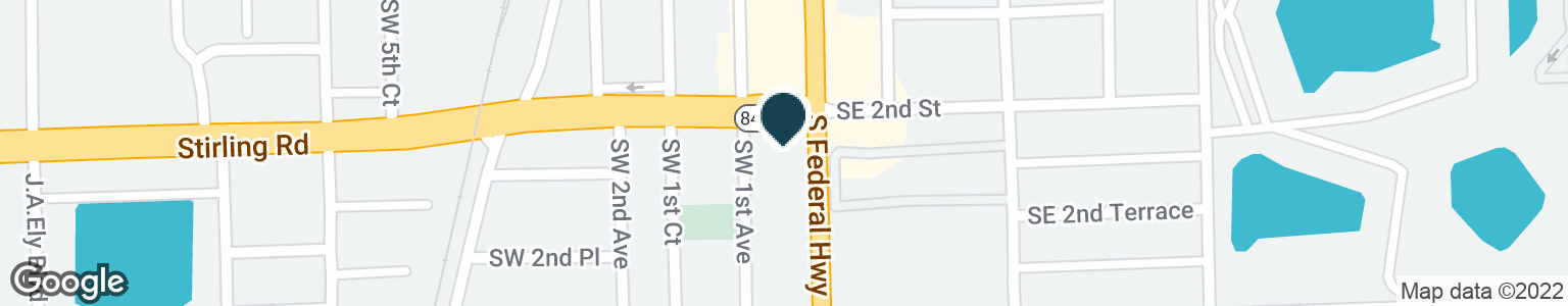 Google Map of202 S FEDERAL HWY