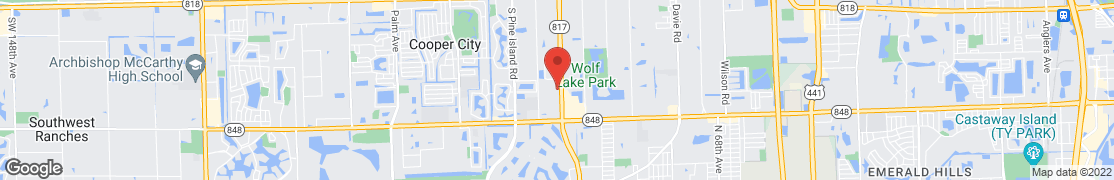 Map of 5645 South University Dr. in Davie