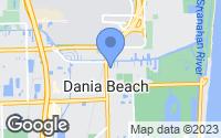 Map of Dania Beach, FL