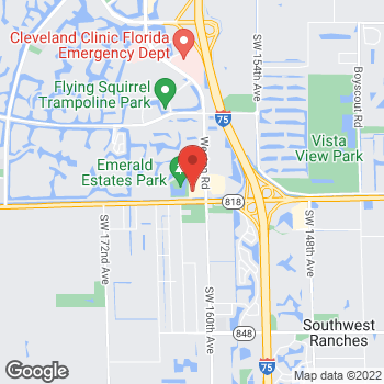 Map of Panera Bread at 4547 Weston Road, Weston, FL 33331