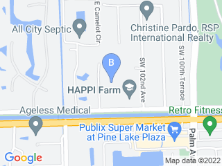 Map of Pet Paradise Resort Davie Dog Boarding options in Davie | Boarding