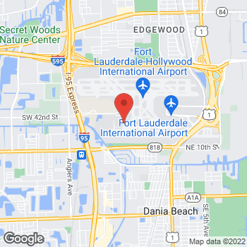 Map of Burger King at 100 Terminal Dr, Fort Lauderdale, FL 33315