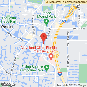 Map of Dr. David M. Fagan at 2234 Weston Road, Weston, FL 33326