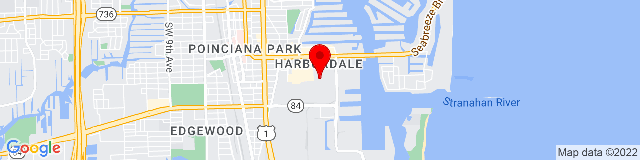 Google Map of 26.096944444444443, -80.12722222222222