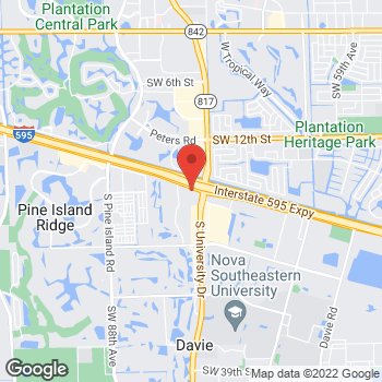 Map of Bed Bath & Beyond at 1801 South University Drive, Davie, FL 33324