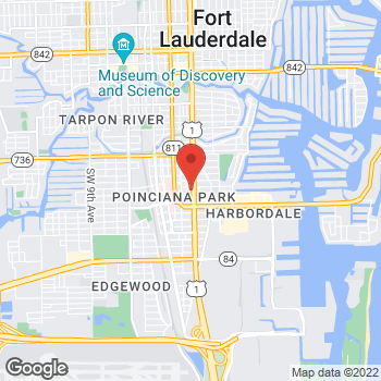 Map of Hair Cuttery at 1565 S Federal Hwy, Fort Lauderdale, FL 33316