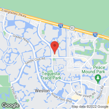 Map of Hair Cuttery at 314 Indian Trace, Weston, FL 33326