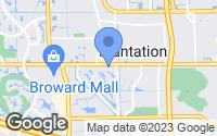 Map of Plantation, FL