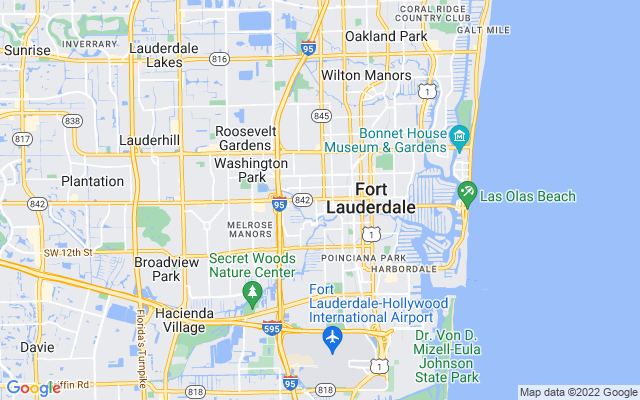 Fort Lauderdale on the map