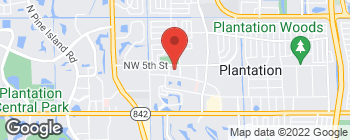 Map of 7350 NW 5th St in Plantation
