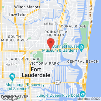 Map of Arby's at 1720 E Sunrise Blvd, Fort Lauderdale, FL 33304-3021