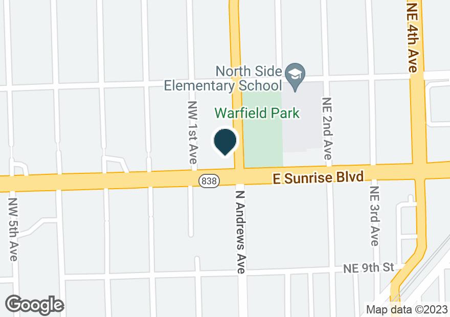 Google Map of1 W SUNRISE BLVD