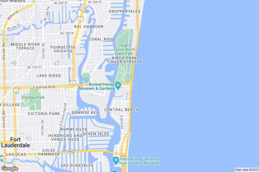 Map Of Hotels In Fort Lauderdale Beach