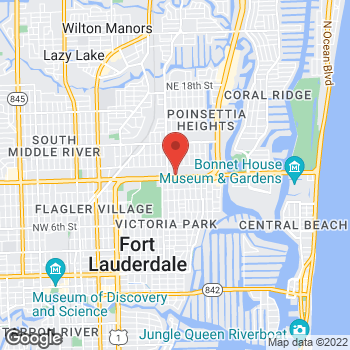Map of Hair Cuttery at 1609 E. Sunrise Boulevard, Fort Lauderdale, FL 33304