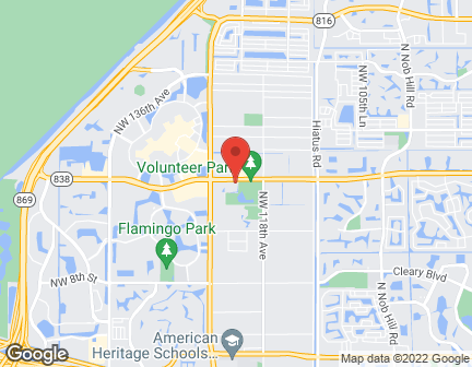 Map of 12100 W. Sunrise Blvd in Plantation